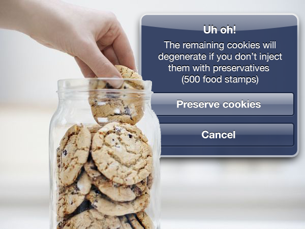 In-app purchases when eating cookies
