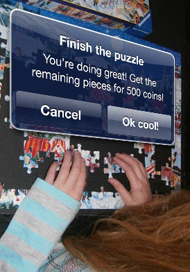 In-app purchases when finishing a puzzle