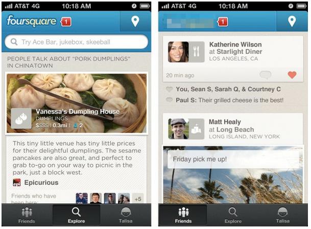 Old Foursquare Screenshot
